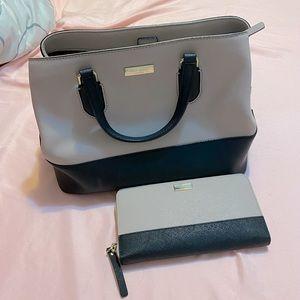 Kate spade colorblock tote + wallet